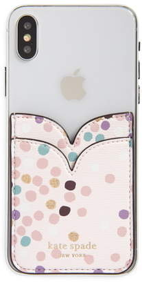 Kate Spade Dots Double Sticker Phone Pocket