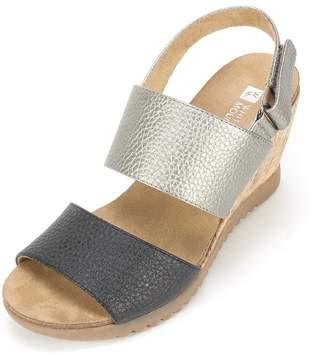 White Mountain Teller Women US 9.5 Silver Wedge Sandal