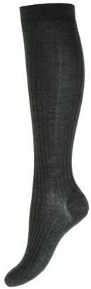 Pantherella Womens Rose Merino Wool Knee High Socks - Charcoal