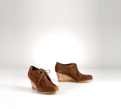 Ralph Lauren Denver Suede Wedge Bootie