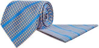 Stefano Ricci Silk Diagonal Daisy Print Tie