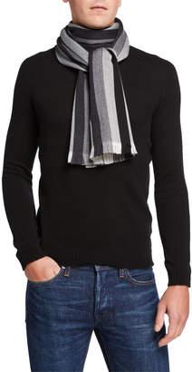 Hickey Freeman Men's Chalk Stripe Wool Scarf