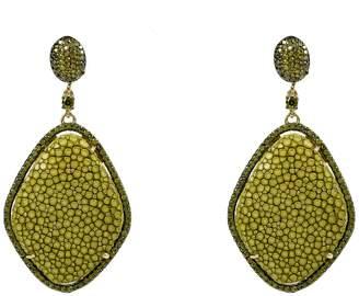 Latelita London - Stingray Pavé Diamond Earring Kiwi