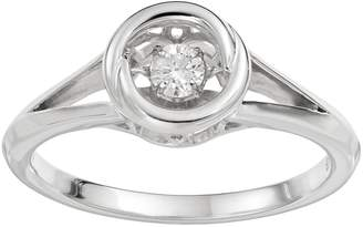 Brilliance+ Brilliance In Motion Brilliance in Motion 1/10 Carat T.W. Diamond Sterling Silver Circle Ring