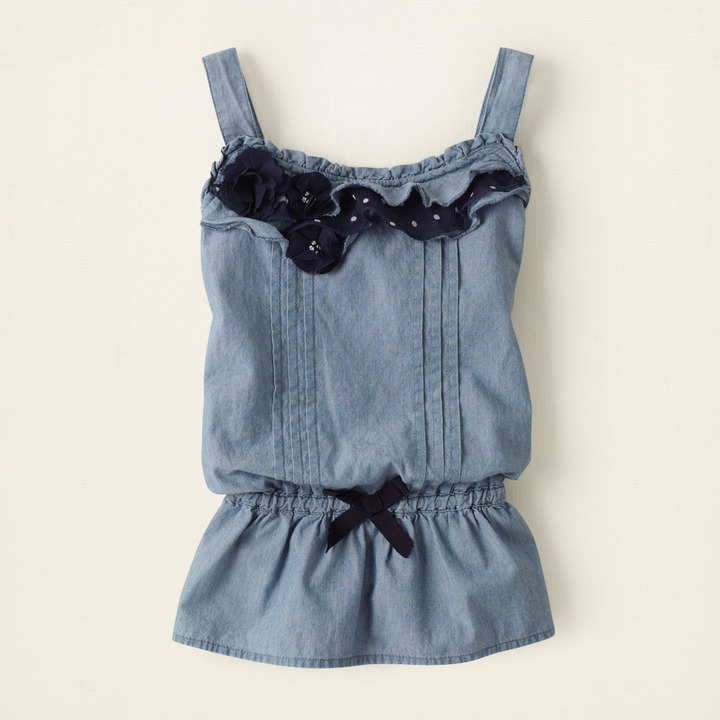 Children's Place Chambray flower top