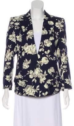 Smythe Floral Structured Blazer