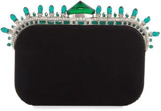 Jimmy Choo Crown Jewels Velvet Cloud Clutch Bag