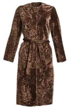 Max Mara Lamb Fur Long Coat