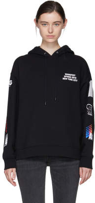 Alexander Wang SSENSE Exclusive Black Sponsored Hoodie