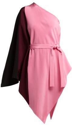 Etro Nora One Shoulder Silk Top - Womens - Pink Multi