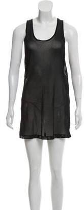 Public School Sleeveless Mesh Mini Dress