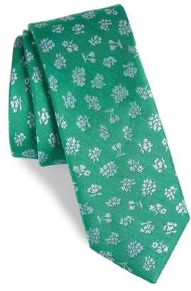 The Tie Bar Fruta Floral Silk & Linen Tie