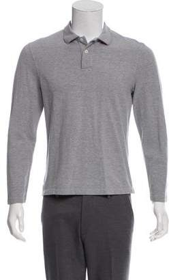 Brunello Cucinelli Long Sleeve Polo Shirt
