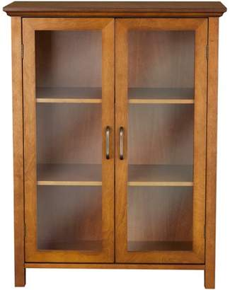 Elegant Home Fashions Calais Floor Cabinet, Oil Oak