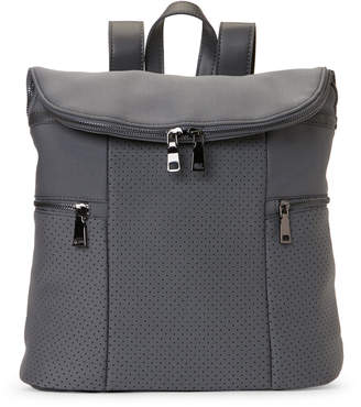 Urban Expressions Charcoal Perforated Flap Backpack
