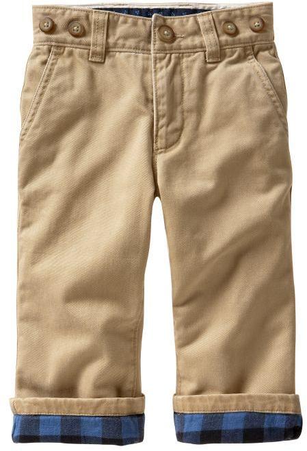 Lined khaki pants