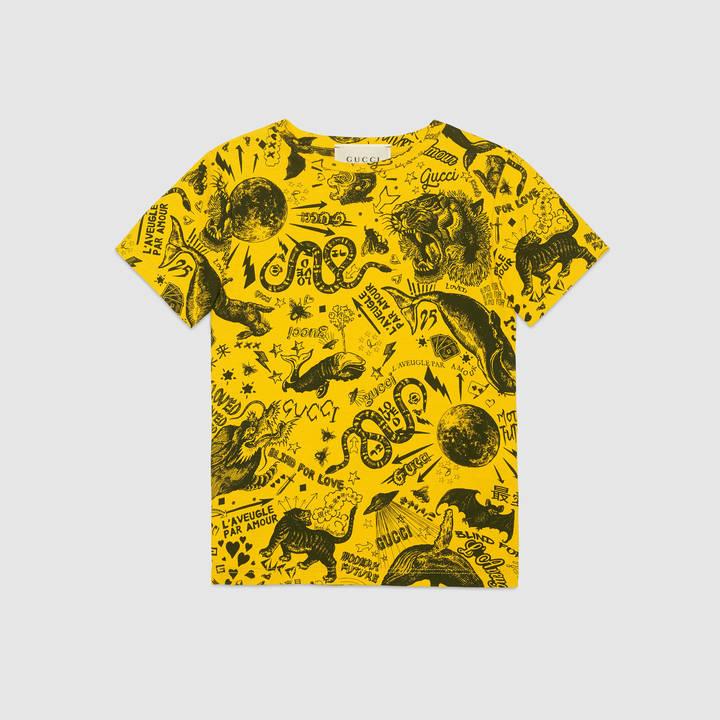 "Children's cotton t-shirt with ""Modern Future"" print 8"
