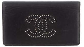 Chanel Studded Flap Wallet
