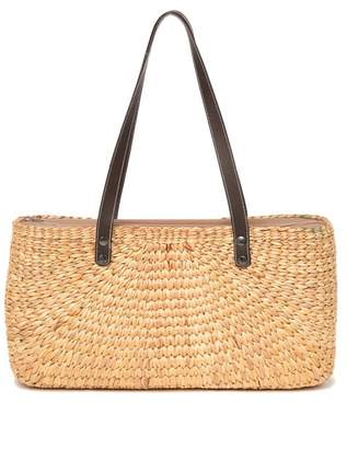 061606aed Sea & Grass Sara Faux Leather Flat Strap Straw Tote