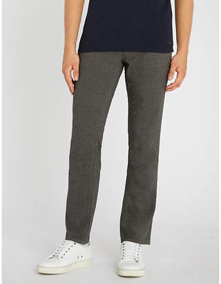 BOSS Slim-fit straight woven trousers