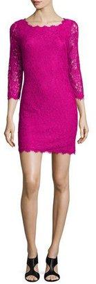 Diane von Furstenberg Zarita Lace Sheath Dress, Hot Orchid $348 thestylecure.com