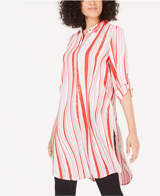 Alfani Convertible Striped Tunic
