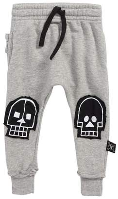 Nununu Skull Robot Patch Baggy Pants