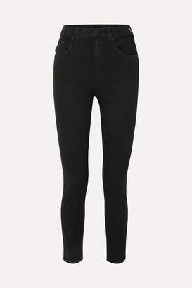 Mother The Diamond Swooner High-rise Skinny Jeans - Black