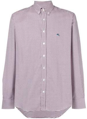 Etro houndstooth print button down shirt