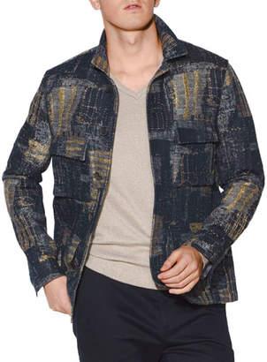 John Varvatos Men's Easy-Fit Textured Jacket