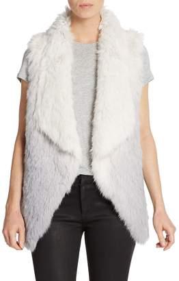 La Fiorentina Women's Ombré Rabbit Fur Vest