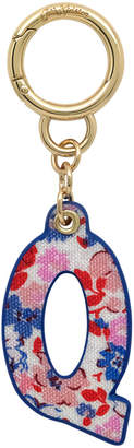 Cath Kidston Mews Ditsy Bag Charm/Key Ring Initial Charm Q