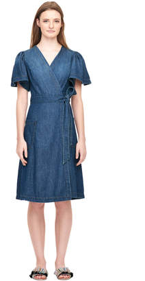 Rebecca Taylor La Vie Drapey Denim Dress