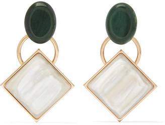 Marni - Gold-tone Horn Earrings - Cream