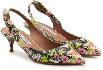 Tabitha Simmons Rise Printed Kitten Heel Pumps