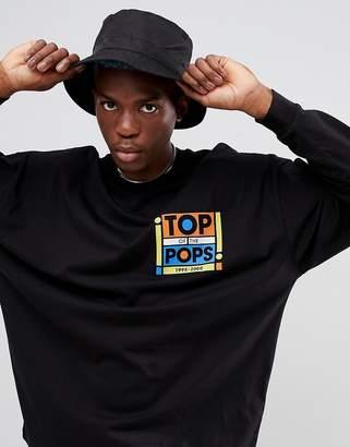 Asos DESIGN Top Of The Pops oversized long sleeve t-shirt