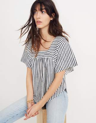 Madewell Texture & Thread Butterfly Top in Isley Stripe