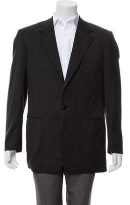 Gianni Versace Wool Notch-Lapel Blazer grey Wool Notch-Lapel Blazer