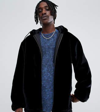 The New County oversized zip up hoodie faux fur
