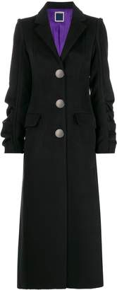Marco Rambaldi ruched sleeve fitted coat