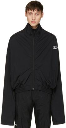 Vetements Black Reebok Edition Chav Track Jacket $990 thestylecure.com