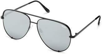 Quay Sunglasses Silver Mini Sunglasses by x Desi