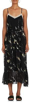 Pas De Calais Women's Abstract-Print Crepe Slip Maxi Dress