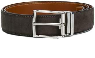 Santoni textured buckle belt