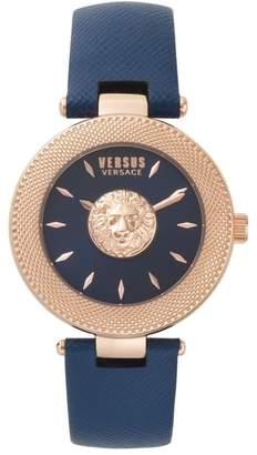 Versus By Versace VERSUS Versace Brick Lane Leather Strap Watch, 40mm