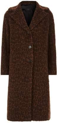 Max Mara Jacquard Leopard Coat