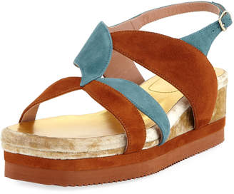 Dries Van Noten Flatform Wedge Platform Sandals