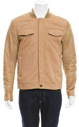 Alexander Wang Leather-Accented Bomber Jacket
