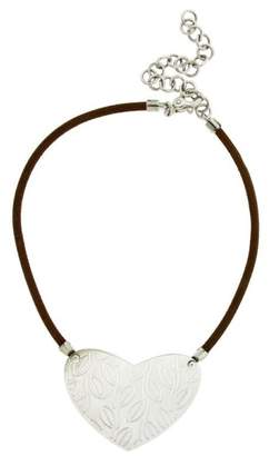 Bulgari Enigma by Sterling Silver Brown Leather Necklace