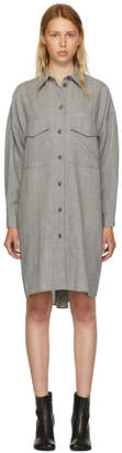 Maison Margiela Grey Wool Casual Tailoring Shirt Dress